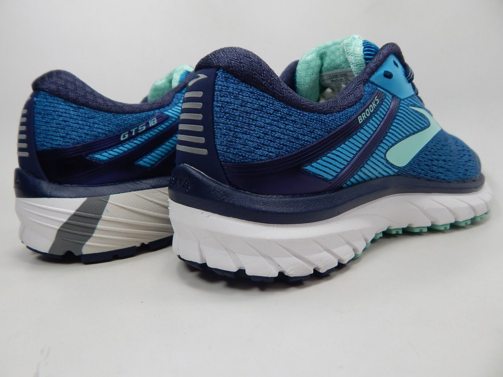 Brooks GTS 18 Size US 6.5 M (B) EU 37.5 Women's Running Shoes Blue 1202681B495