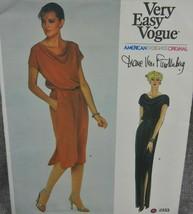 Vogue 2333 Misses 8  Dianne Von Furstenberg American Desgner Pullover Dr... - $29.69
