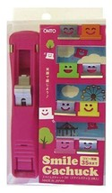 OHTO-stationery-clip GS-500S-PK pink smile - $7.93