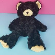 """Build a Bear Black Teddy Bear Unstuffed BABW 2011 Tan Ears Feet 16""""  - $16.82"""