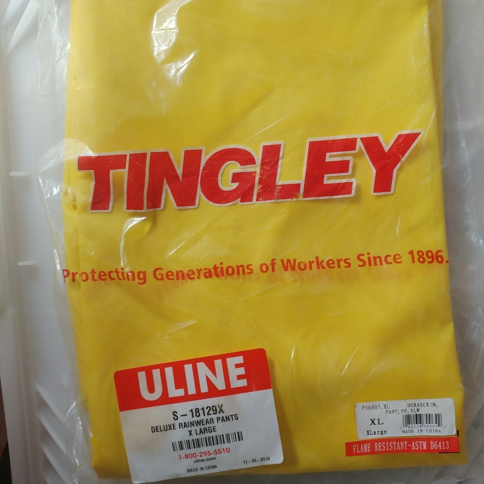 Primary image for Tingley Uline Deluxe Rainwear Pants X-Large