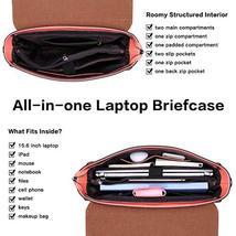 Laptop Briefcase for Women 15.6 Inch Business Computer Bag Satchel Bag Laptop Me image 6
