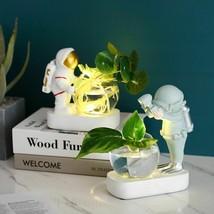 Glass Vase Resin Astronaut Diver Ornaments Flower Hydroponics Desktop Decor - $48.90
