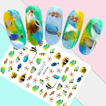 Nail Art 3D Stickers Design Decoration Tips Self Adhesive Tropical Fish ... - $3.29