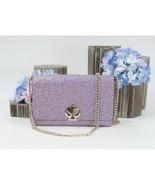 Kate Spade Lilac Glitter Nicola Shimmer Twist Lock Crossbody Wallet Bag NWT - $172.76