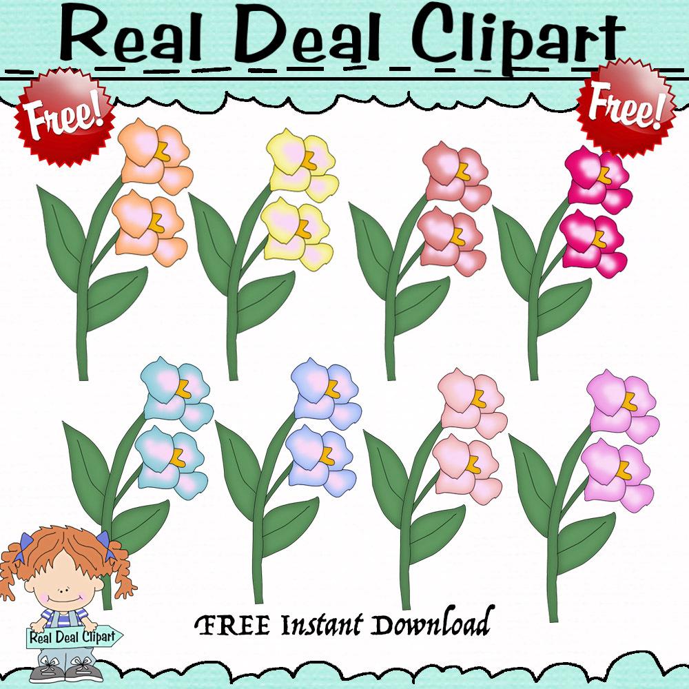 FREE Clip Art Set Iris Flowers