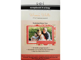 "S.E.I. Scrapbook in a Bag, Winnie's Walls, a Summertime 4"" x 6"" Memory Book Kit"