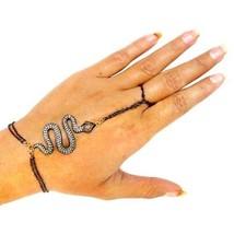 14k or 1,48 Ct Diamants Pavé Rubis Serpent Bracelet D'Esclave - $743.52
