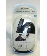 Belkin 6 Foot 3 Prong Grounded Wall Outlet Computer AC Power Cable NIP - $6.92