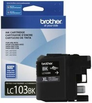 Brother LC103BK 600 pages High Yield Ink Cartridge - Black Genuine 2022  New - $25.39