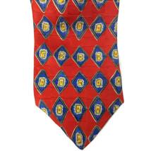 Robert Talbot Studio Men's Necktie 100% Silk Red/Blue/Yellow - $9.37