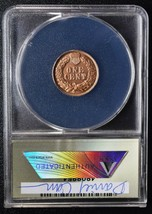 RARE 1910D Token Dan Carr Indian head Cent MS69 RED o/s on real coin Lot A648 image 2