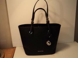 Authentic Michael Kors Jet Set Travel Medium Tote Logo Leather Black NWT... - $163.34