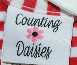 Rare editions Counting Daisies H170094 2 Piece Christmas Outfit Size 18 Months image 6