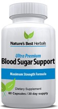 Nature's Best Herbals - Ultra Premium Blood Sugar Support Supplement 60 Capsules - $96.99