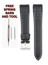 Compatible Seiko Sportura SNAE61P1 21mm Black Genuine Leather Watch Strap SKO110 - $38.61