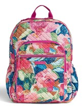 Vera Bradley Quilted Signature Cotton Iconic Campus Backpack, Superbloom
