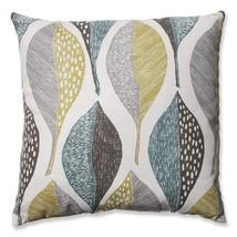 Pillow Perfect Woodblock Leaf Rain Throw Pillow, 18-Inch - $1.002,96 MXN