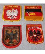 Germany Austria Poland Souvenir Travel Patch Lot with Germany Lapel Hat Pin - $19.95