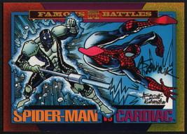 Alex Saviuk SIGNED 1993 Marvel Universe Trading Art Card ~ Spiderman Vs Cardiac - $14.84