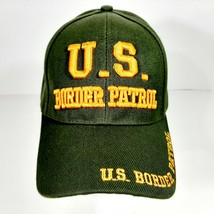 United States Border Patrol Men's Cap Hat Green Embroidered Acrylic - $12.37