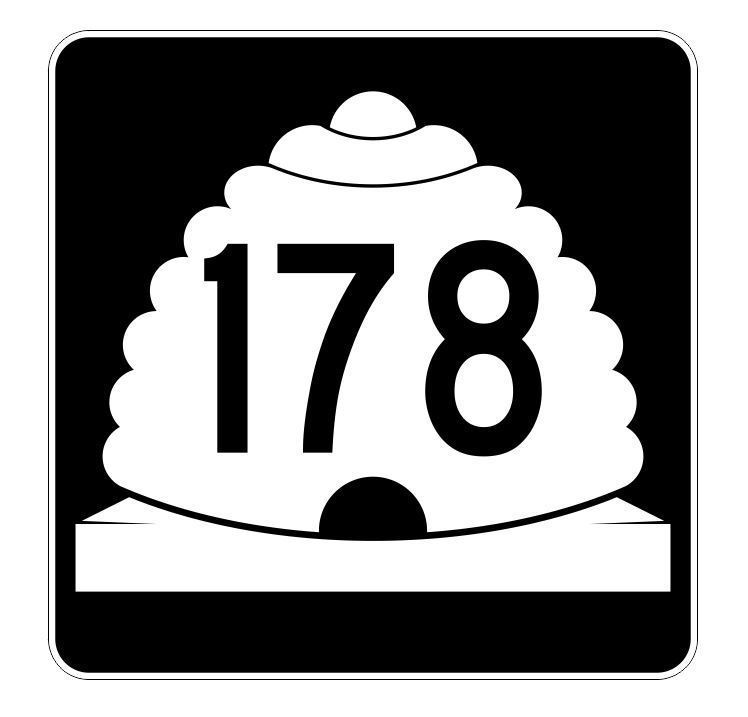 Utah State Highway 178 Sticker Decal R5495 Highway Route Sign