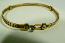 Vintage Fashion Deco Jewelry Gold Filled Wire  Buckle Bangle Bracelet - $54.65