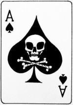 Vietnam War Era - Ace of Spades Death's Head Card -  Poster - $9.99+