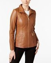 Women Slim fit Lambskin Designer Motorcycle Brown Quilted Leather Jacket... - $130.00+