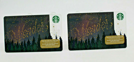 Starbucks Coffee 2015 Gift Card Wonder Stars Trees Winter Zero Balance S... - $12.02
