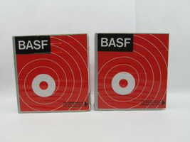 2 Vintage BASF Library Archive Boxes with LP35 Long Play Tapes 7 in./180... - $57.42