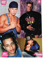 Marky Mark Wahlberg Chris Pittman Vaniila Ice Gerardo teen magazine pinup Bop