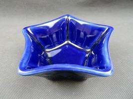 Vintage Longaberger US Pottery deco Cobalt Blue Star Design, Made in USA... - $18.00