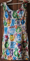JAMS WORLD colorful sleeveless Sun Dress vase design size 3 - $29.99
