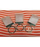 Set of 3 PINK Keychain Keyring Auto Car Purse Key Split Rings Holder Fob... - $9.40