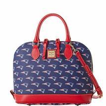 Dooney & Bourke Patriots Purse Zip Zip Satchel Bag Navy