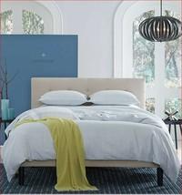 Sferra Andello Full Queen duvet Cover Linen Blend Geometric Aquamarine B... - $387.95