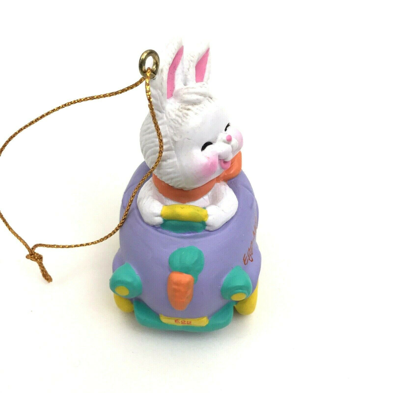 Vintage Easter Avon Eggspression Egg Car Mobile Ornament Bunny Rabbit in Box