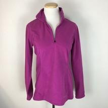 Eddie Bauer Women's Pink Fleece Half Zip Longsleeve Pullover Sweater Siz... - $18.80