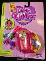 Nib Liddle Kiddles Doll Tyco Black Clip Ons Suzy Sunshine 1994 Pink Hair - $27.69