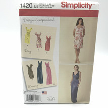 Simplicity 1420 Misses Plus Size Dress Day or Evening 16 24 Uncut SEWING... - $8.58