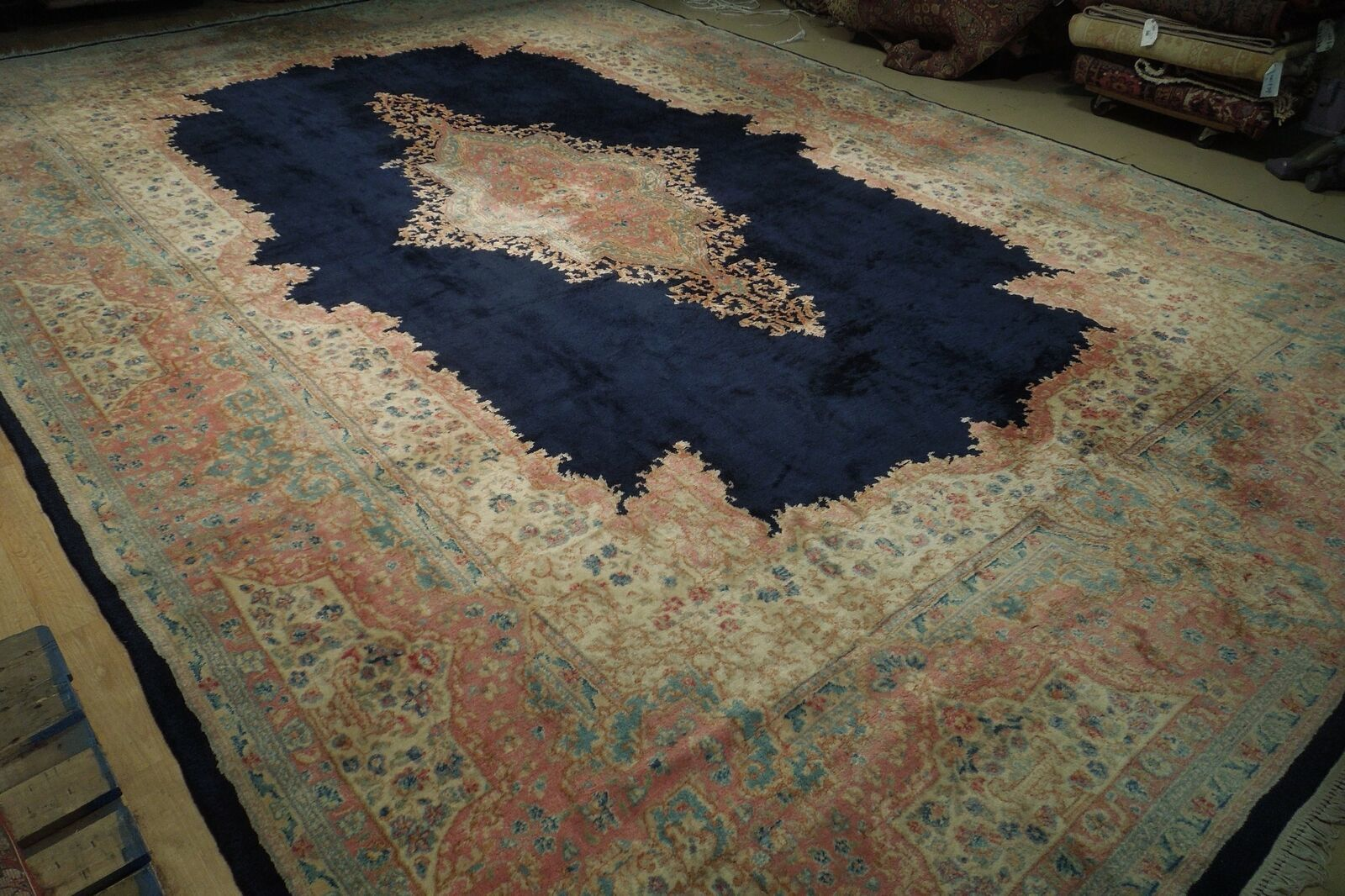 11x17 Navy Blue Handmade Open Field Durable Fine Original Persian Rug image 11