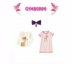 "Gymboree Girls ""Fairy Tale Forest""Fawn Dress/Top/Hair clip 3 Piece Set N... - $37.83"