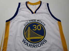 STEPHEN CURRY / AUTOGRAPHED GOLDEN STATE WARRIORS WHITE CUSTOM JERSEY / COA image 2