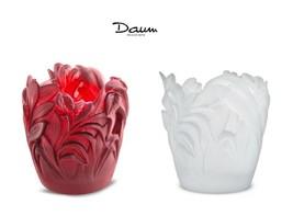 Daum Set Of 2 Jungle Vase 05456 05456-1 France Crystal New Box Numbered Edition - $1,382.35