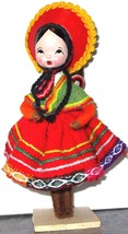 Peruvian Cusco Doll 2004 Handmade Knit Crochet RARE Unique One Of A Kind - $25.20