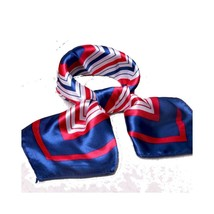 Silk Scarf Pattern Square Satin Head Scarf Headdress - $17.17