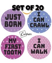 Baby Monthly Milestone Stickers 20 Pack Birth to 12 Months + 7 Bonus sti... - $9.89