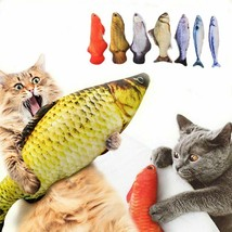 Pet Cat Scratching Catnip Simulation Fish Shape Kitten Kicker Chewing Pl... - $9.99