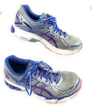 ASICS Gel GT-1000 Silver Blue Running Shoes Sneakers T3R5N Women's 6 US, 37 EUR - $33.37 CAD